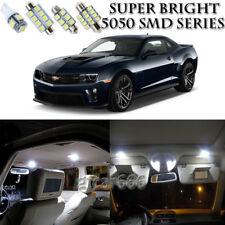 For Chevy Camaro 2010-2015 Xenon White LED Interior + License Plate Light Kit 6X