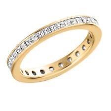 9 Carat Excellent Eternity Yellow Gold Fine Diamond Rings