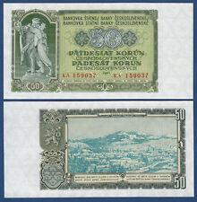 TSCHECHOSLOWAKEI CZECHOSLOVAKIA 50 Korun 1953 UNC P.85 b