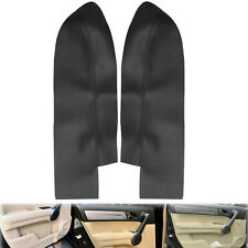 Pair Black Leather Front Door Panels Armrest Cover Fits Honda CR-V CRV 2007-2012