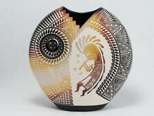 Laguna Pueblo Potter Orion Aragon White Pillow  Vase