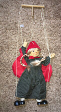 """Little Red Riding Hood marionette Tellon Collection 17"""" puppet blonde braids A12"""