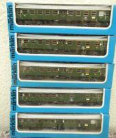 Märklin 4131 2x, 4132 2x, 4133, 5 Stück Umbauwagen DB Epoche 4, 1x mit Licht OVP