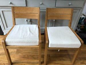Habitat Radius oak dining chairs