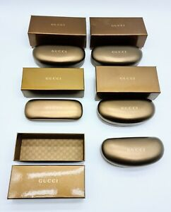 Joblot of imperfect GUCCI Luxury Gold Hard Spectacle Glasses Sunglasses Cases