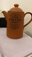 THE ORIGINAL SUFFOLK COUNTRY KITCHEN TERRACOTTA COFFEE POT HENRY WATSON POTTERY