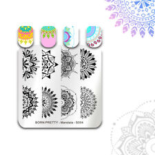 BORN PRETTY Nail Art Stamping Plates Floral Dot Image Template Mandala - S004