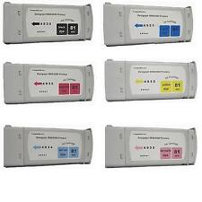 6 Compatible Cartridges fits HP Designjet 5000ps 5500ps for HP 81 UV Dye INK