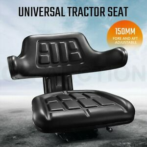 PU Leather Tractor Seat Excavator Forklift Truck Digger Universal Armrest Chair