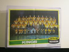 1979-80 LA KINGS TEAM PHOTO TOPPS 5X7 WITH TOP LOADER
