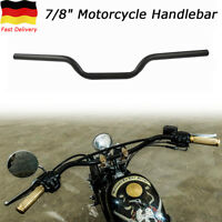 Motorrad Lenker Stahl Schwarz 7/8''22MM steel Handlebar für Harley Honda Yamaha