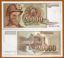 Yugoslavia, 20,000 (20000) Dinara, 1987, P-95, UNC > Miner