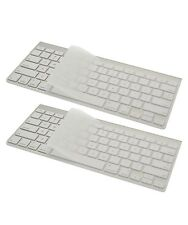 "2x Clear Slim Keyboard Cover Silicone Skin Protector MacBook Pro 13 15 17"" iMac"