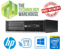 HP 8300 Elite PC - Intel i5 Quad Core CPU Up To 16GB Ram Fast SSD Windows 10 Pro