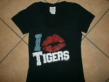 I LOVE DETROIT TIGERS Kiss Lips Lipstick MLB Baseball Womens Girls JUNIORS MED