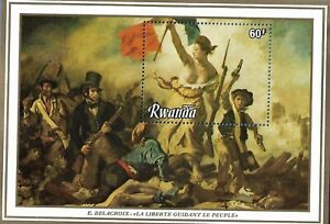 RWANDA 1109 MNH SOUVENIR SHEET LIBERTY GUIDING THE PEOPLE BY DELACROIX
