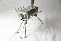 Silver-gem woodburner stove outdoor patio heater tent cooking stainless steel