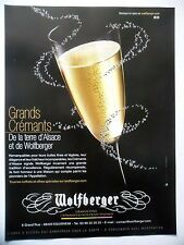 PUBLICITE-ADVERTISING :  WOLFBERGER Grands Crémants d'Alsace  2014 Alcool
