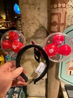 "IN HAND Disneyland ""BEST DAY EVER"" Ear Headband Light Up Red Mickey Balloon"