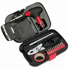 New CAR TOOL SET CASE Emergency Auto Repair Tire Gauge Flashlight Tools Garage
