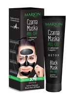 MARION DETOX BLACK MASK PEEL-OFF BLACKHEAD REMOVER  FOR FACE active charcoal