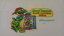PAH: Crazy Crocos, Musik-Cassetten-Hüllen, ...original! P48