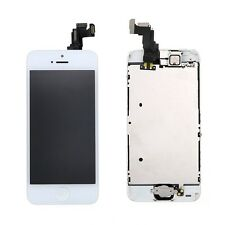 Genuine White LCD Touch Digitizer Screen Assembly + Button/Camera for iPhone 5C