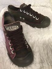 KEEN CORONADO Women Leather Canvas Lace Up Sneaker Oxford Flats Shoes EU 37