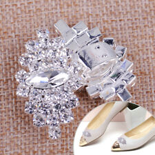 1Pair Rhinestone Crystal Wedding Bridal Diamante Crystal Sparkle Shoe Clips