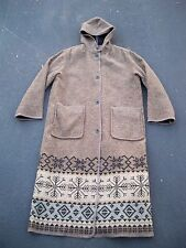 Vintage Woolrich Wool Snowflake Winter Snow Knit Coat Jacket Parka Womens Size L