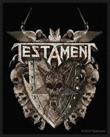OFFICIAL LICENSED - TESTAMENT - SHIELD SEW ON PATCH METAL