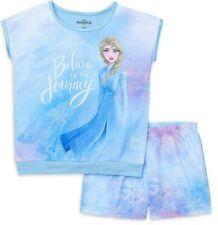 New Frozen Elsa girl's pajamas 2 piece XS S M L XL XXL girls shorts sleep set