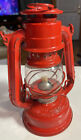 Vintage 1960's Small Red Winged Wheel Kerosen Oil Lantern No 350 Japan Railroad