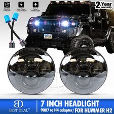 "Hummer H2 Jeep Wrangler 7"" Round LED Headlights Lamp Daymaker JK JKU Headlights"