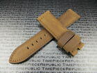 24mm Genuine Leather Strap Brown Tang Assolutamente Watch Band for Fits PANERAI