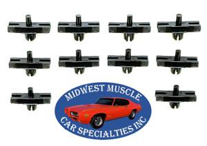 1964 Dodge Dart GT Body Upper Side Molding Moulding Rivet Trim Clip Clips 10pc D