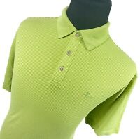 Tommy Bahama Green Striped Short Sleeve Performance Golf Polo Shirt Mens Large L