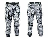 Motorbike Motorcycle Waterproof Cordura Textile CE Armour Pants Trousers Camo UK