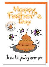 plaisanterie amusante fête des pères CARTE & BADGE de le chien - Merci pour
