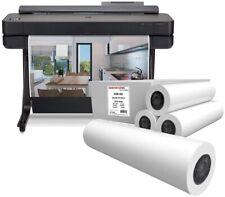 Hp Designjet T650 Wide Format Wireless Printer 365hb10a Paper Rolls Bundle