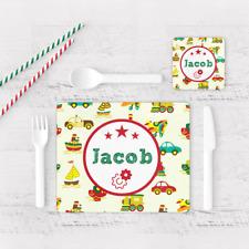 Personalizzata auto & trasporto linea ragazzo bambino per bambini Tavolo TOVAGLIETTA AMERICANA & Coaster