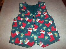 Children's Boys or Girls Christmas Stocking Holiday Vest Handmade Size 5 or 6