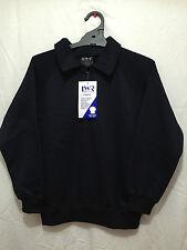 BNWT Boys/Girls Sz 8 LW Reid Navy Long Sleeve Zip Neck School Uniform Jumper