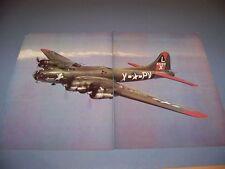"VINTAGE..B-17 ""TEXAS RAIDERS""..2-PAGE COLOR PHOTO PAGES ...RARE! (165L)"