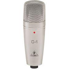 New BEHRINGER C1 Studio Cardioid Condenser Microphone Mic C-1 w/ Hard Case, Clip