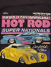 Vintage 1995 Ford Hot Rod Super Nationals Soft T Shirt Canfield Ohio Race Track