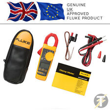 Genuine Fluke 325 True-RMS ACDC Clamp Meter, Temperature Probe, Leads & C23 Case
