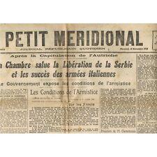 Le PETIT MÉRIDIONAL St Jean de Védas Boisseron Cette Mèze Montpellier 6 Nov 1918