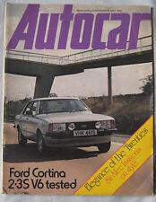 Autocar magazine 12/11/1977 featuring Ford Cortina V6, Renault 16, Tatra T613