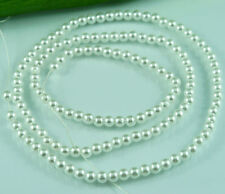 140pcs Pearl Beads 5MM Pure White Faux Imitation Acrylic Spacer Round Pearl